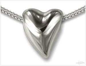 Zilveren ashanger hartvorm