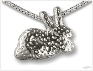 Zilveren ashanger konijn