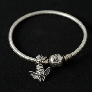 Zilveren armband voor asbedel
