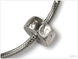 Zilveren asbedel