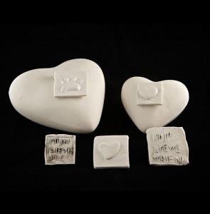 Porselein urn hartvorm