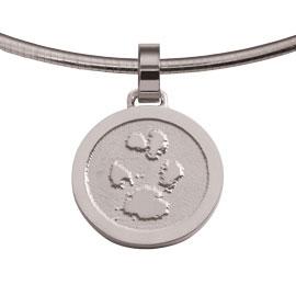 Zilveren juweel met pootafdruk