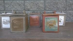Urn vierkant in klei