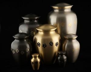 Metalen urn vaasvorm
