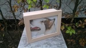 Foto urn in hout