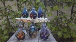 Mini urn glas druppel