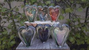 Mini urn glas hart