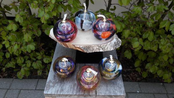 Mini urn glas olielamp