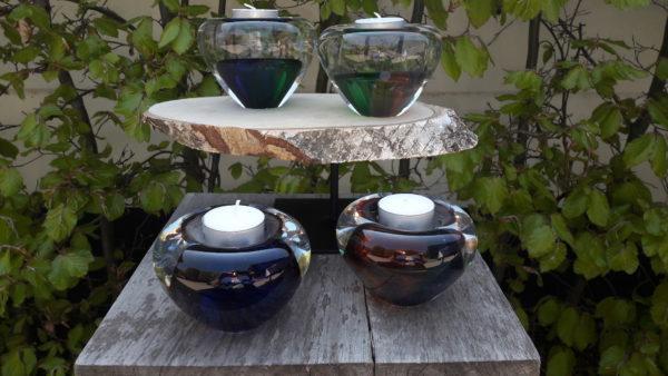 Mini urn glas theelicht